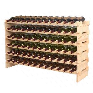Stackable-Wine-Rack-Storage-72-Bottles-Cellar-Display-Shelves-WN84