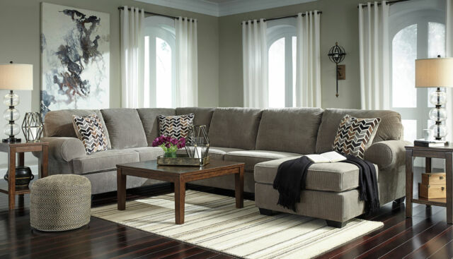 Fantastic New Large Sectional Living Room Gray Corduroy Fabric Sofa Couch Chaise Set Ig2Z Gmtry Best Dining Table And Chair Ideas Images Gmtryco