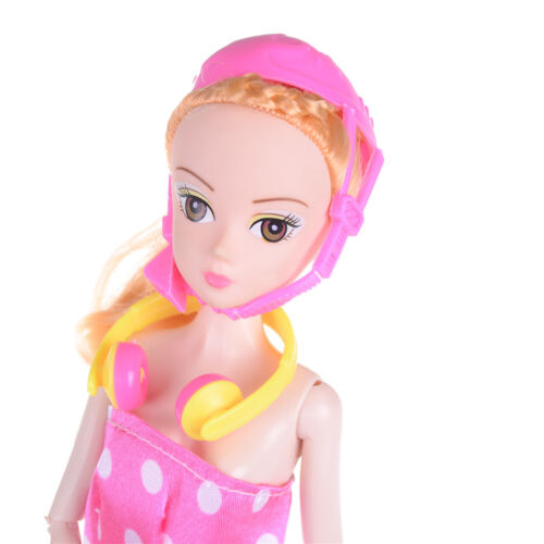 1//12 Scale Dollhouse Miniature Accessories Headset Skating Shoes Helmet Kit RS