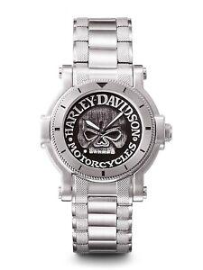 New-Harley-Davidson-Men-039-s-Bulova-Men-039-s-Watch-76A11
