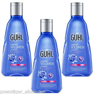 3x-250ml-Guhl-Long-Term-Volume-Shampoo-Blue-Lotus-Fine-Hair-Limp-Hair