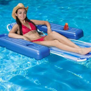 Surprising Details About Poolmaster 53L X 39W Swimming Pool Lake Caribbean Floating Lounge Chair Ocoug Best Dining Table And Chair Ideas Images Ocougorg