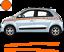 Renault-Twingo-Bandes-Zebres-Stickers-adhesifs-decoration-couleur-au-choix miniature 9