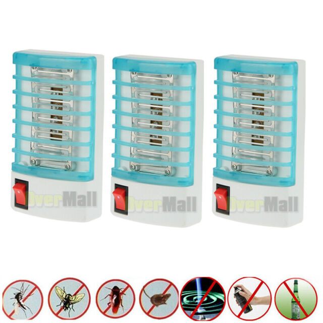 Indoor LED Electric Mosquito Fly Bug Insect Trap Zapper Killer Night Lamp US!