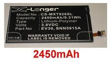 Batería 2450mAh tipo EV30 SNN5915A SNN5915B Para Motorola RAZR MAXX HD 4G