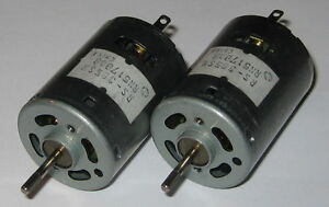 2-X-Mabuchi-RS-385SH-Motors-Knurled-Shaft-12V-DC-12500-RPM-Hobby-Motors