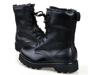 2fbd4a8103f Details about Vintage Mens Goth Punk Rock Band Shoes Lace Up Metal  Heavy-Bottomed Combat Boots