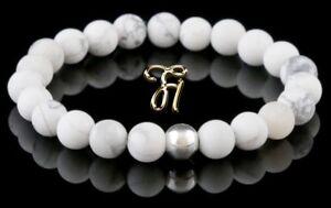Howlith-925er-sterling-Silber-Armband-Bracelet-Perlenarmband-weiss-8mm
