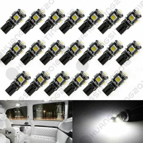 10X CANBUS ERROR FREE White T10 5SMD 5050 LED Interior Light Bulbs 194 168 12V