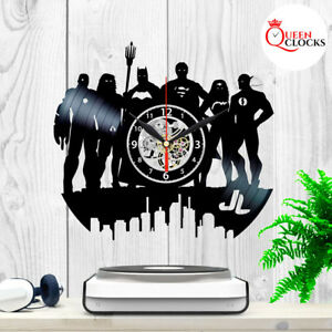 Dc Justice League Vinyl Record Wall Clock Superman Batman