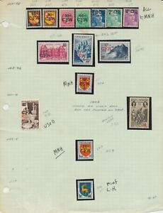 REUNION-15-FRENCH-COLONY-STAMPS-ALL-CFA-OVERPRINTS-MOSTLY-MNH-WITH-OG