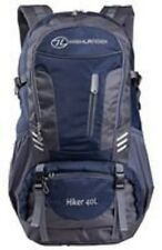 HIGHLANDER RUC212 HIKER WALKING HIKING RUCKSACK WITH RAINCOVER 40L BLUE