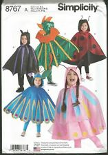 Simplicity  R10320//8483 Child/'s Cape Costumes  Sewing Pattern Sizes S-L