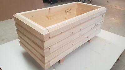 U43 BxTxH Pflanzkasten 60x40mm unbehandelt Holz Blumenkasten 120x40x36cm