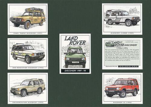 3-Door 5-Door Camel Trophy XS LAND ROVER DISCOVERY 1989-98 Collectors Card Set