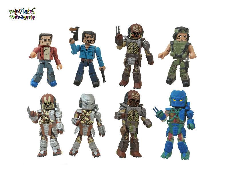 Prédateur Miniatures Série 1 Compteur Décharge  Jeu Complet de 8 Figurines  jusqu'à 60% de réduction