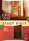 One Year Study Bible-NLT: Arranged in 365 Daily Readings by Tyndale House Publishers (Leather / fine binding, 2011)