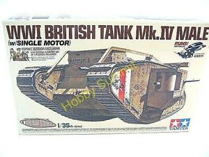 Tamiya-1-35-British-Mk-IV-MALE-WWI-Motorized-Tank-Model-Kit-30057