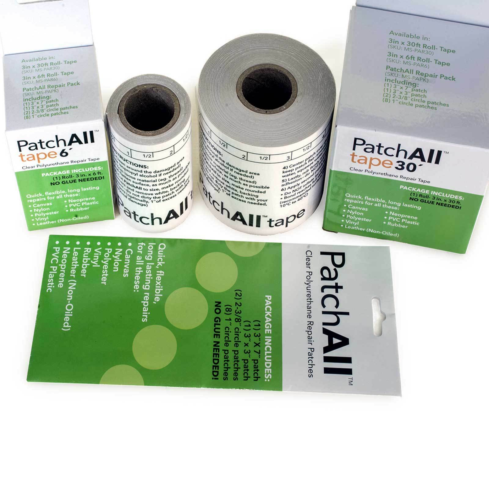 PatchAll Waterproof Clear Tape Vinyl Leather Canvas Flexible Repair Patch Fix