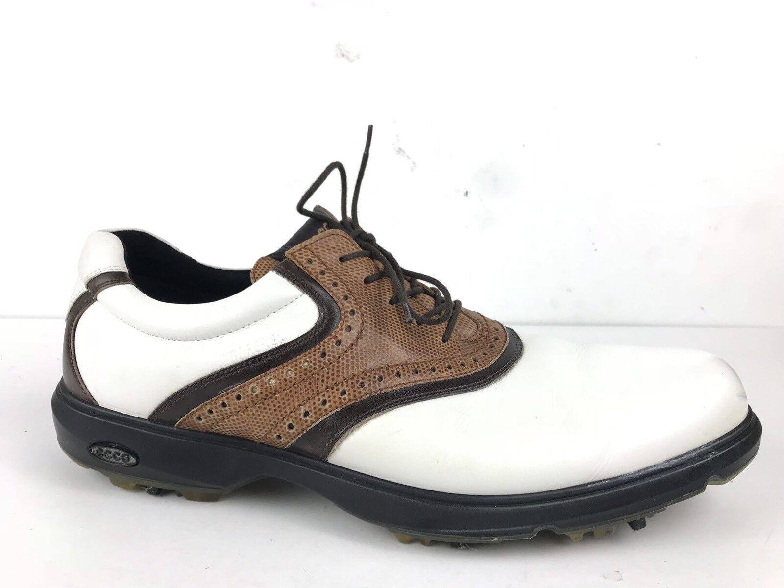 Ecco Classic GTX Gore-Tex Waterproof Golf Scarpe Saddle marrone/White marrone/White marrone/White Uomo 47/13 7710ba