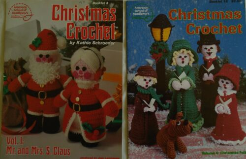 2 ASN Crochet Pattern Books CHRISTMAS SANTA MRS. CLAUS & FOLKS 3 & 15 197780