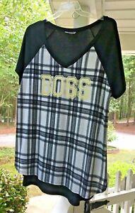 Bobbie-Brooks-Womens-Black-White-034-BOSS-034-Top-Tee-Shirt-Plus-Size-2X