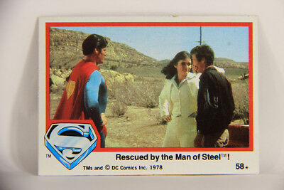 Nice L006077 Superman The Movie 1978 Trading Card Eng Aromatic Character And Agreeable Taste Rescue By Man Of Steel #58