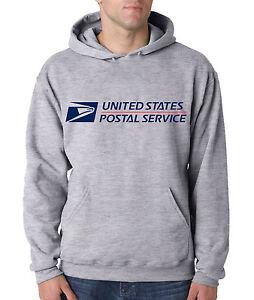 USPS POSTAL SPORT GREY HOODIE Hooded Sweatshirt US Logo United States Service