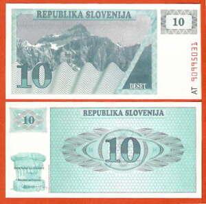 P04   Slowenien / Slovenia    10  Tolarjev 1990  UNC
