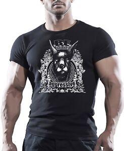 Essere-aggressivi-DOBERMAN-DOG-STREET-GANG-Combattimento-T-shirt-Girocollo-Tee