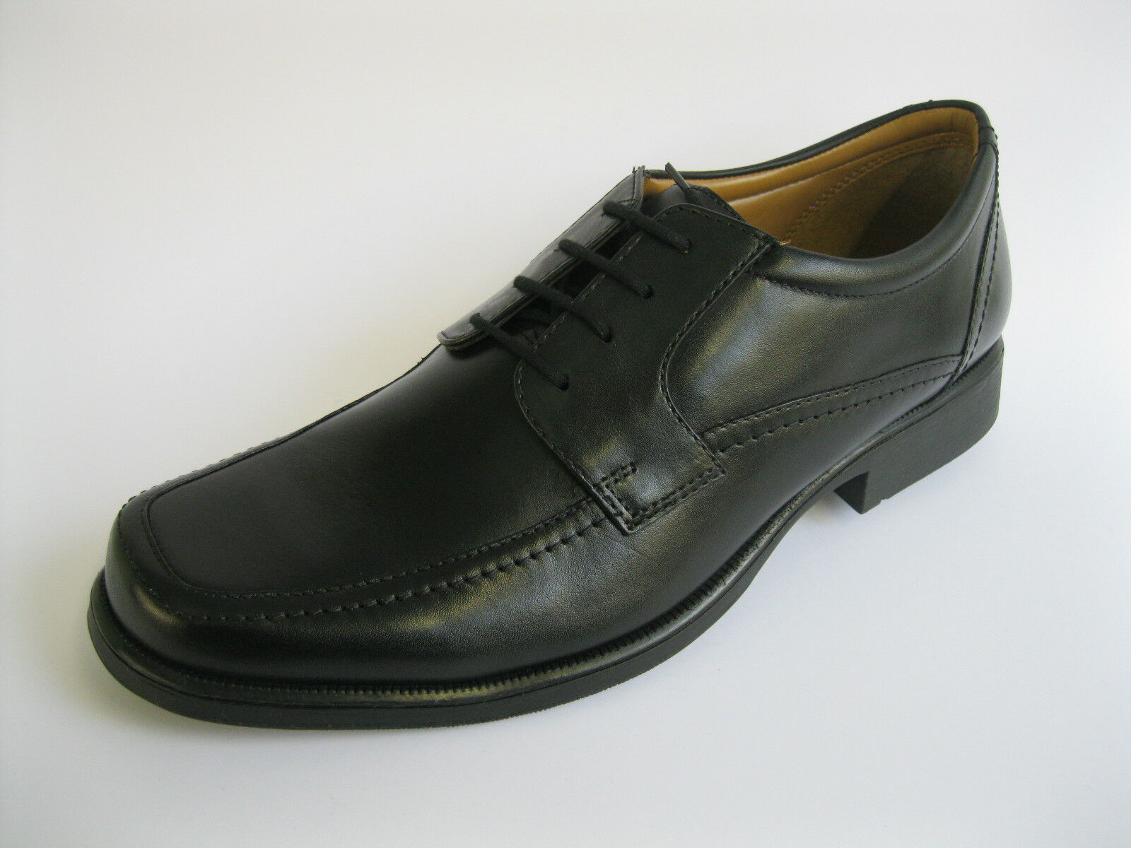 Clarks Hold Spring Mens Black Leather Lace-up shoes G Fitting (38B) (Kett)