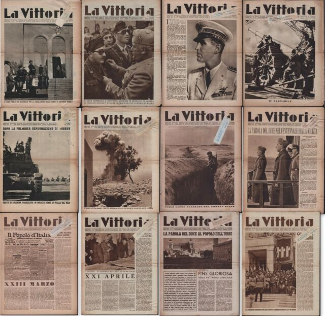 LA VITTORIA-12 NUMERI DA NOVEMBRE 1941 A GIUGNO 1943 MOLTE IMMAGINI DI GUERRA