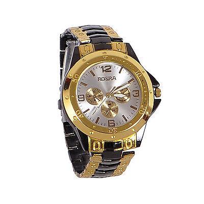 New Stylish Sober Wrist Watch for Men Silver Dial - SMROSGBGD-1