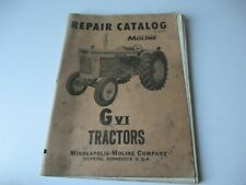 1959 Minneapolis Moline Gvi Tractor Parts Catalog Manual
