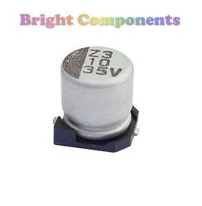 10 x 47uf SMD - SMT Condensateur électrolytique - 16v (max) - Royaume-Uni - 1er classe post-afficher le titre d`origine gdcAygNS-07135503-991998258