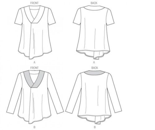 Butterick Ladies Plus Size Easy Sewing Pattern 5999 Pullove... Free UK P/&P