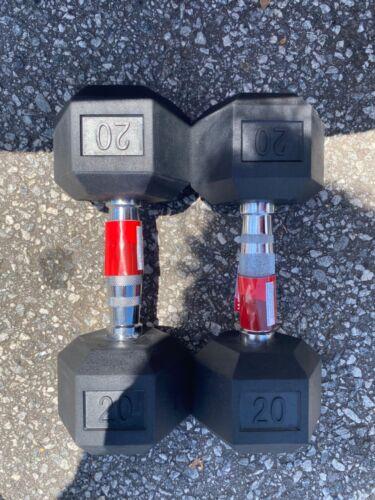 Weider Pair Set of 2 Rubber Dumbbells Select Weight 10LB 15LB 20LB 25LB