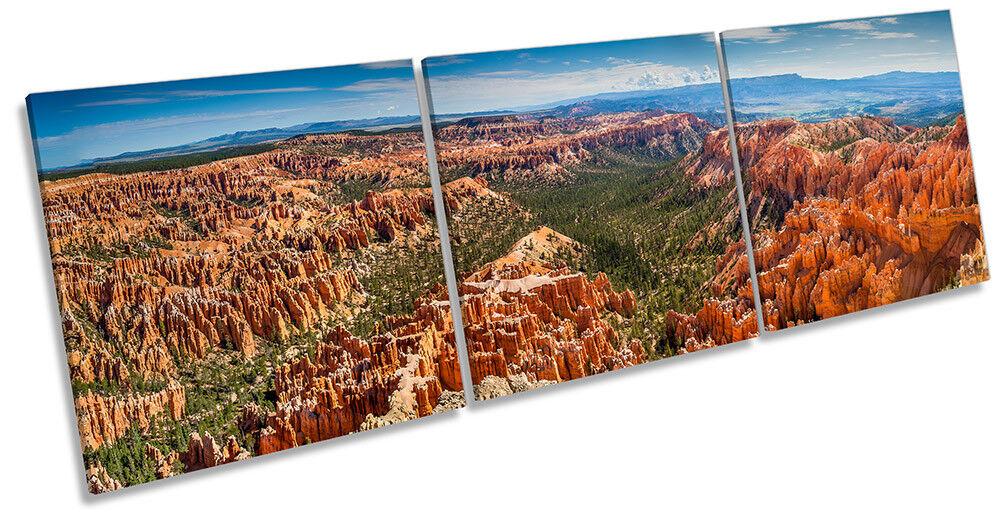 Bryce Canyon Utah Landscape Framed CANVAS PRINT Triple Wall Art
