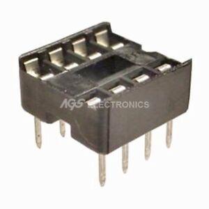 10 X Zoccolo 8 Pin 44 Passo 2,54mm Per Integrato Zoc 8p (10 Pezzi) Vx09qwx9-07231258-904674244