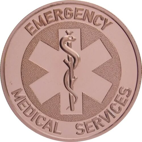 100  1 OZ Ounce Of Copper EMERGENCY MEDICAL SERVICES Bullion ROUNDS 5 TUBES