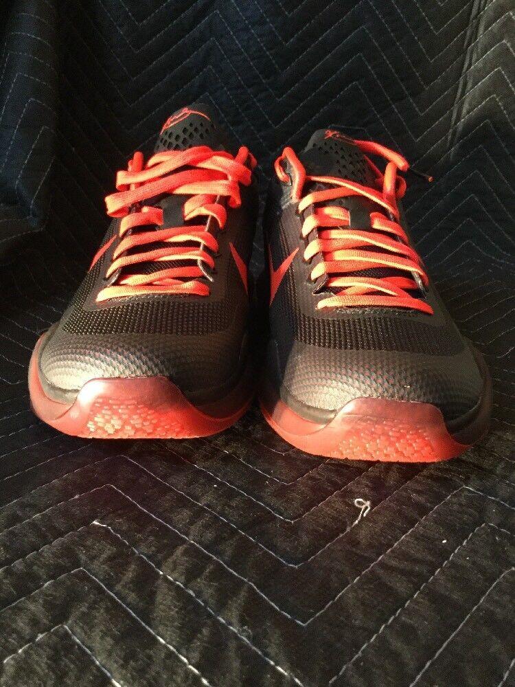 Nike Kobe X 10 Black Bright Crimson Anthracite SZ 11.5 (705317-060 )