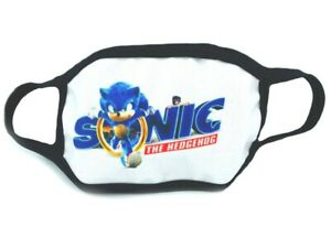 Sonic The Hedgehog Kids Face Mask Dual Sheet Child Mouth Cover 5 To 12 Years Old Ebay