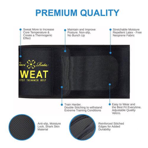 Neoprene Waist Trainer Men/&Women Sport Gym Sweat Hot Belt Body Slimming Shaper