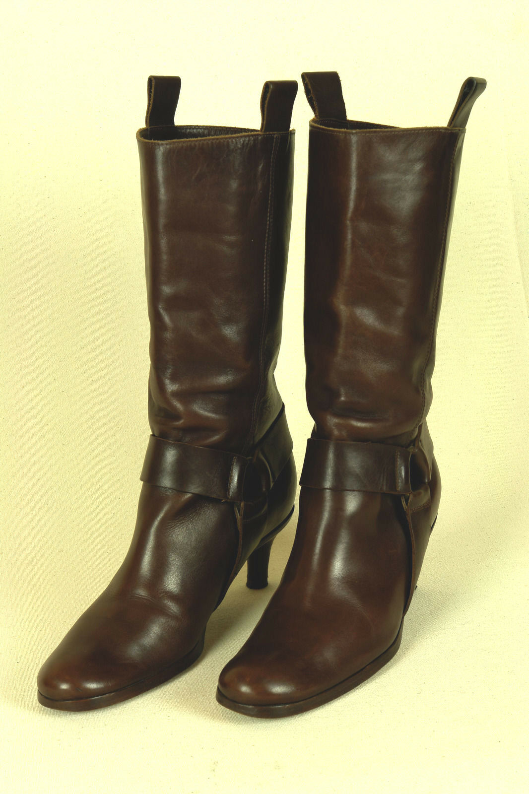HABILLE / ITALY / MIDCALF RIDING BOOT IN BROWN / SZ: 6 M / EXCELLENT