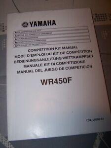 Candide Py Competition Kit Manual/mode D'emploi Du Kit De Competition Yamaha Wr 450 F