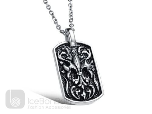 Vintage Medallion Stainless Steel Pendant Necklace Chain Unisex USA Seller
