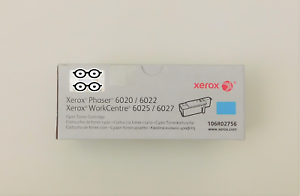 GENUINE-XEROX-CYAN-toner-cartridge-106R02756-PHASER-6020-6022-WORKCTRE-6025-6027