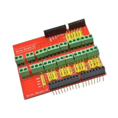 Proto Tornillo Tornillo Escudo V2//V3 Placa De Expansión Módulo Compatible para UNO R3