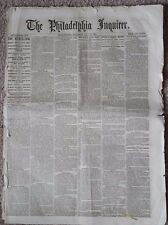 The Philadelphia Inquirer. Saturday, July 13, 1861. Price Two Cents