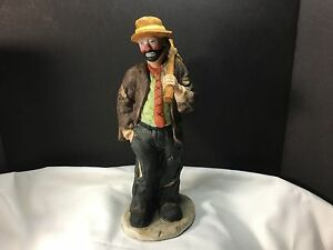 Image is loading Emmett-Kelly-Jr-034-Golfer-034-Clown-Figurine-